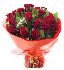 Kocaeli online çiçekçi , çiçek siparişi  11 adet kimizi gülün ihtisami buket modeli