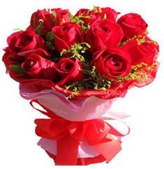 9 adet kirmizi güllerden kipkirmizi buket  Kocaeli anneler günü çiçek yolla