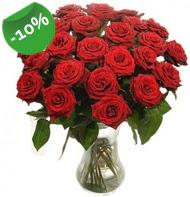 Vazo içerisinde 25 adet kırmızı gül  Kocaeli çiçek mağazası , çiçekçi adresleri