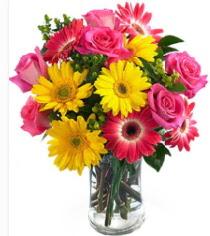 Vazoda Karışık mevsim çiçeği  Kocaeli cicekciler , cicek siparisi