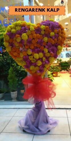Ankara mevsim çiçeklerinden kalp perförje  Kocaeli çiçekçiler