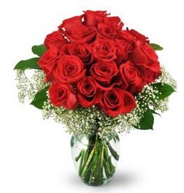25 adet kırmızı gül cam vazoda  Kocaeli çiçek siparişi vermek
