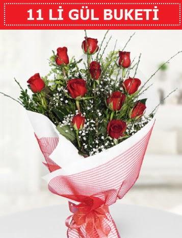 11 adet kırmızı gül buketi Aşk budur  Kocaeli çiçekçi mağazası
