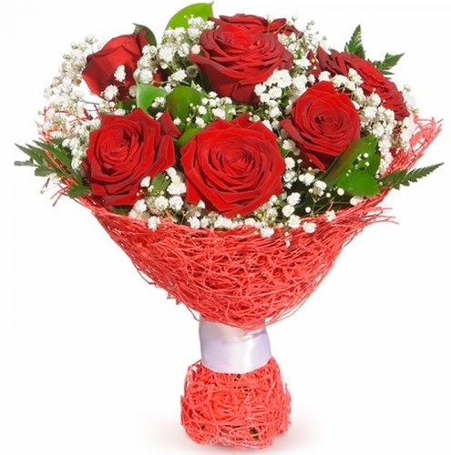 7 adet kırmızı gül buketi  Kocaeli anneler günü çiçek yolla