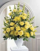Kocaeli uluslararası çiçek gönderme  sari güllerden sebboy tanzim çiçek siparisi