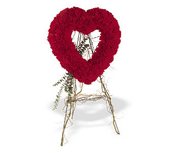 14 şubat sevgililer günü çiçek  karanfillerden kalp pano