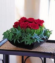 Kocaeli uluslararası çiçek gönderme  10 adet kare mika yada cam vazoda gül tanzim