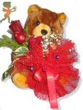oyuncak ayi ve gül tanzim  Kocaeli anneler günü çiçek yolla