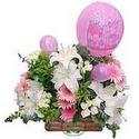 balon ve çiçeklerle tanzim  14 şubat sevgililer günü çiçek