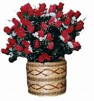 yapay kirmizi güller sepeti   çiçek gönderme