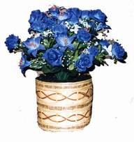 yapay mavi çiçek sepeti  kaliteli taze ve ucuz çiçekler