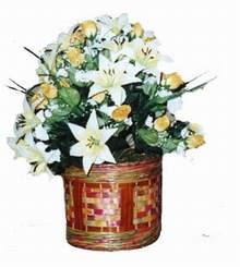 yapay karisik çiçek sepeti   kaliteli taze ve ucuz çiçekler