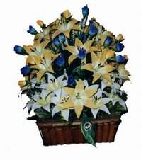 yapay karisik çiçek sepeti   Kocaeli internetten çiçek satışı