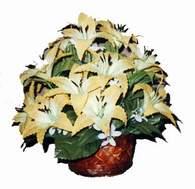 yapay karisik çiçek sepeti   Kocaeli uluslararası çiçek gönderme
