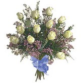 bir düzine beyaz gül buketi   Kocaeli çiçekçi mağazası