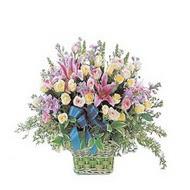 sepette kazablanka ve güller   Kocaeli internetten çiçek satışı