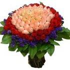 71 adet renkli gül buketi   Kocaeli online çiçek gönderme sipariş