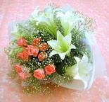 çiçek siparişi sitesi  lilyum ve 7 adet gül buket