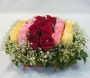 15 adet reprenkli gül sepeti   çiçek siparişi sitesi