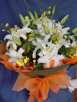 14 şubat sevgililer günü çiçek  5 ADET KAZABLANKA BUKETI KALITEDEN SASMAYANLARA