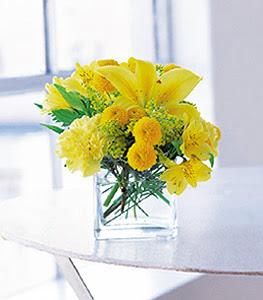 Kocaeli online çiçek gönderme sipariş  sarinin sihri cam içinde görsel sade çiçekler