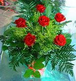 6 adet kirmizi gül buketi   Kocaeli çiçek servisi , çiçekçi adresleri