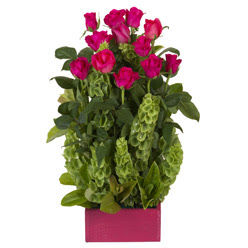 12 adet kirmizi gül aranjmani  çiçek yolla