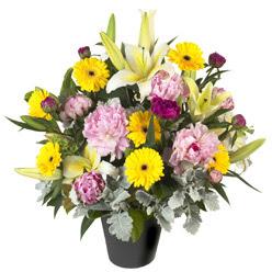 karisik mevsim çiçeklerinden vazo tanzimi  Kocaeli güvenli kaliteli hızlı çiçek