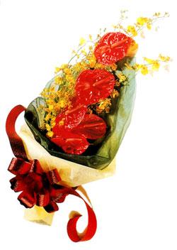 özel 5 adet antorium buketi   Kocaeli çiçekçi mağazası