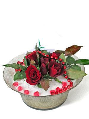 çiçek online çiçek siparişi  EN ÇOK Sevenlere 7 adet kirmizi gül mika yada cam tanzim
