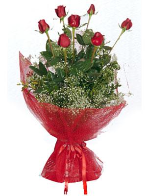 Kocaeli çiçek gönderme sitemiz güvenlidir  7 adet gülden buket görsel sik sadelik