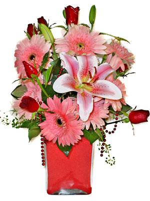 Kocaeli çiçek mağazası , çiçekçi adresleri  karisik cam yada mika vazoda mevsim çiçekleri mevsim demeti