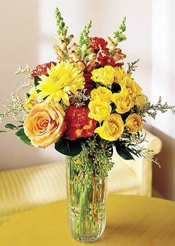 yurtiçi ve yurtdışı çiçek siparişi  mika yada cam içerisinde karisik mevsim çiçekleri