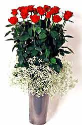 Kocaeli çiçek mağazası , çiçekçi adresleri  9 adet kirmizi gül cam yada mika vazoda