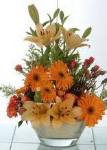 Kocaeli çiçek gönderme sitemiz güvenlidir  cam yada mika vazo içinde karisik mevsim çiçekleri