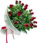 14 şubat sevgililer günü çiçek  11 adet kirmizi gül buketi sade ve hos sevenler