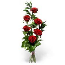 Kocaeli güvenli kaliteli hızlı çiçek  mika yada cam vazoda 6 adet essiz gül