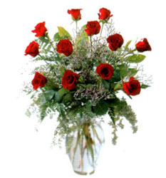 Vazo içerisinde 11 kirmizi gül  çiçek online çiçek siparişi