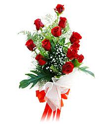 11 adet kirmizi güllerden görsel sölen buket  çiçek online çiçek siparişi