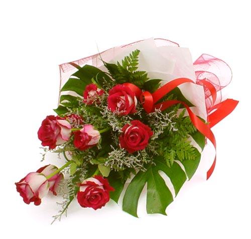 çiçek gönder 7 adet kirmizi gül buketi  çiçek gönderme