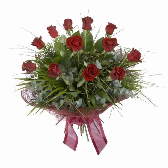 Etkileyici buket 11 adet kirmizi gül buketi  14 şubat sevgililer günü çiçek