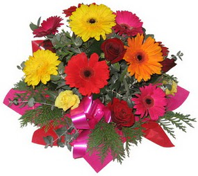 Karisik mevsim çiçeklerinden buket  Kocaeli çiçek yolla , çiçek gönder , çiçekçi