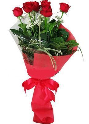 7 adet kirmizi gül buketi  Kocaeli ucuz çiçek gönder