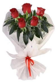 5 adet kirmizi gül buketi  Kocaeli anneler günü çiçek yolla