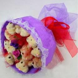 11 adet ayiciktan buket  Kocaeli hediye sevgilime hediye çiçek