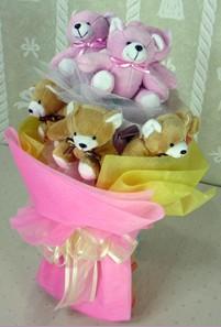 8 adet ayiciktan buket  Kocaeli çiçek mağazası , çiçekçi adresleri
