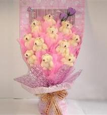 11 adet pelus ayicik buketi  çiçek siparişi sitesi