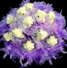 11 adet pelus ayicik buketi  Kocaeli çiçek siparişi vermek