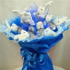 7 adet pelus ayicik buketi  Kocaeli çiçek siparişi vermek