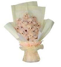 11 adet pelus ayicik buketi  Kocaeli online çiçek gönderme sipariş